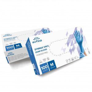 Synmax Εξεταστικά Συνθετικά Γάντια Γαλάζια χωρίς Πούδρα