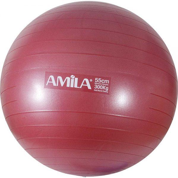 Amila Μπάλα Γυμναστικής Κόκκινη 55cm