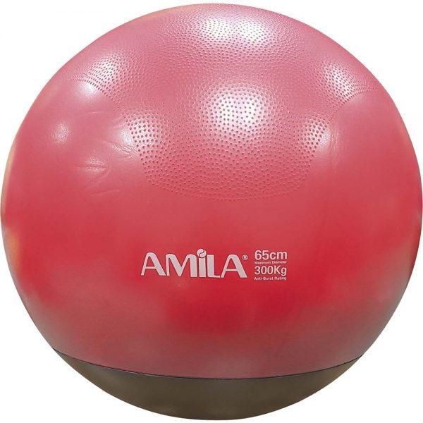 Amila Μπάλα Γυμναστικής Δίχρωμη με Βάρος Κόκκινη 65cm