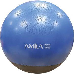 Amila Μπάλα Γυμναστικής Δίχρωμη με Βάρος Μπλε 65cm