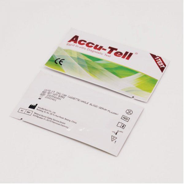 Accu-Tell Διαγνωστικό Test Αντισωμάτων IgG/IgM Κορονοϊού COVID-19