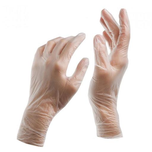 Γάντια Βινυλίου Διαφανή χωρίς Πούδρα