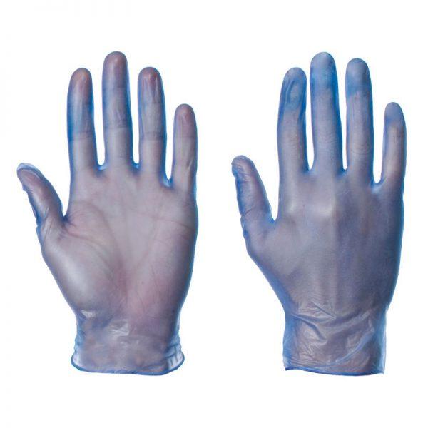 Γάντια Βινυλίου Μπλε χωρίς Πούδρα